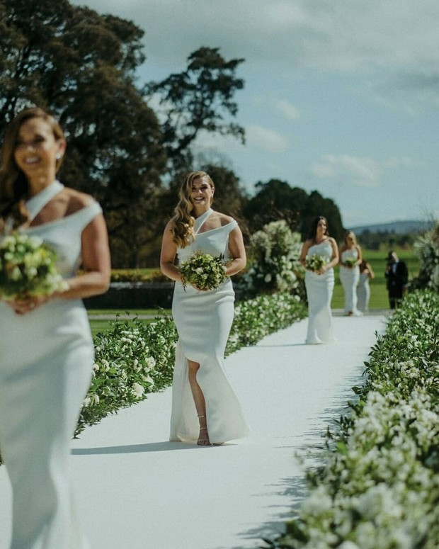 Why Bridesmaids Wearing White Will Always Be a Win