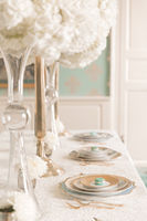 Ivory and Teal French Wedding Ideas