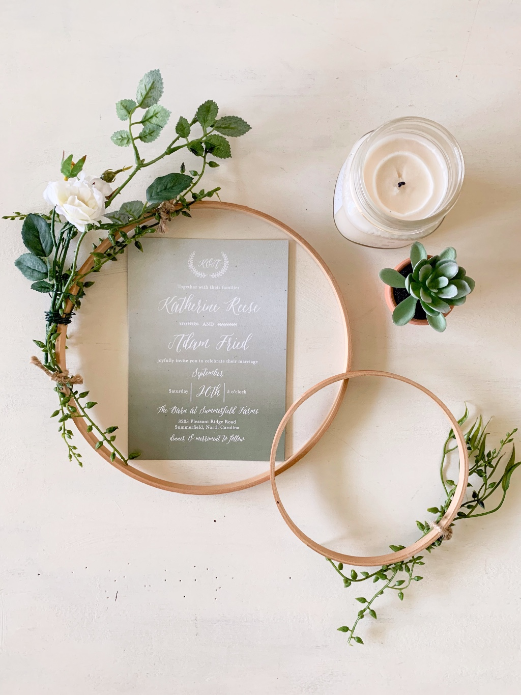 Moody greens make our Rustic Ombre Wedding Invitation Suite a detail your guest will be sure to remember! With over 180 colors to choose