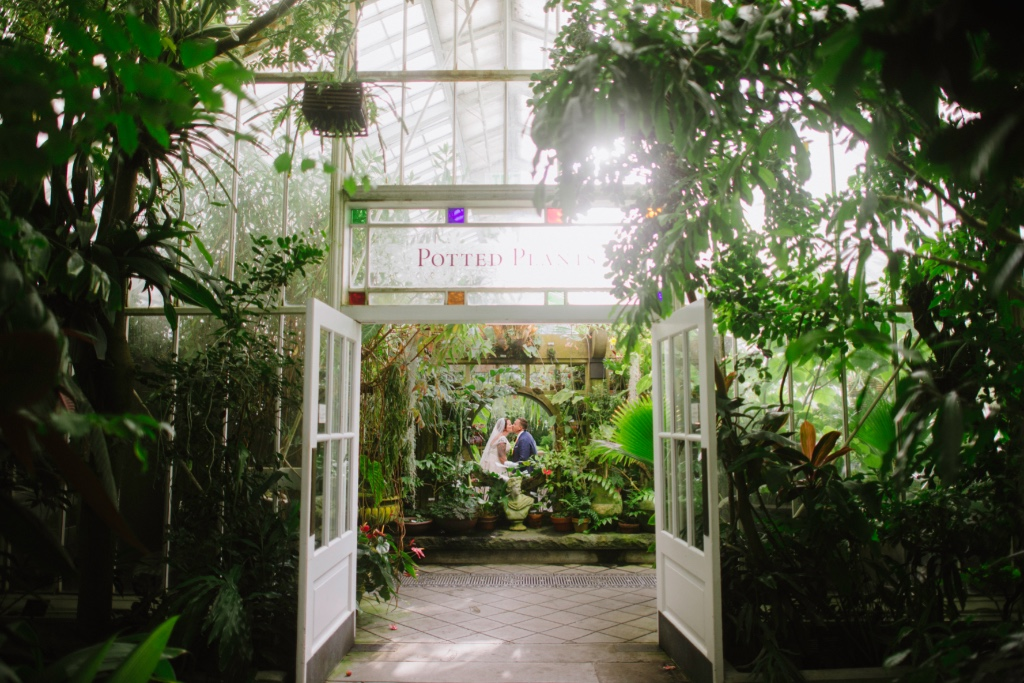 San Francisco elopement at the Conservatory of Flowers.