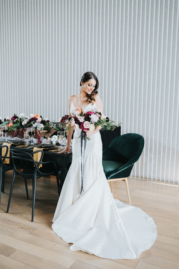 bridal style for your chic modern wedding