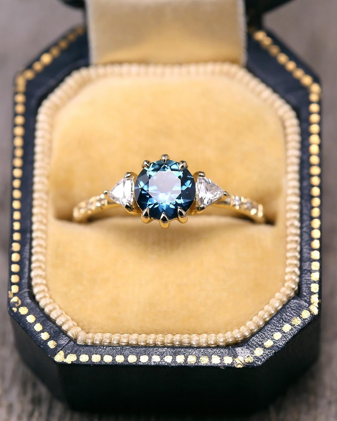 💙💫✨ loving this ring's divine color! Montana Sapphires come in sooo many beautiful colors it's hard to pick a favorite