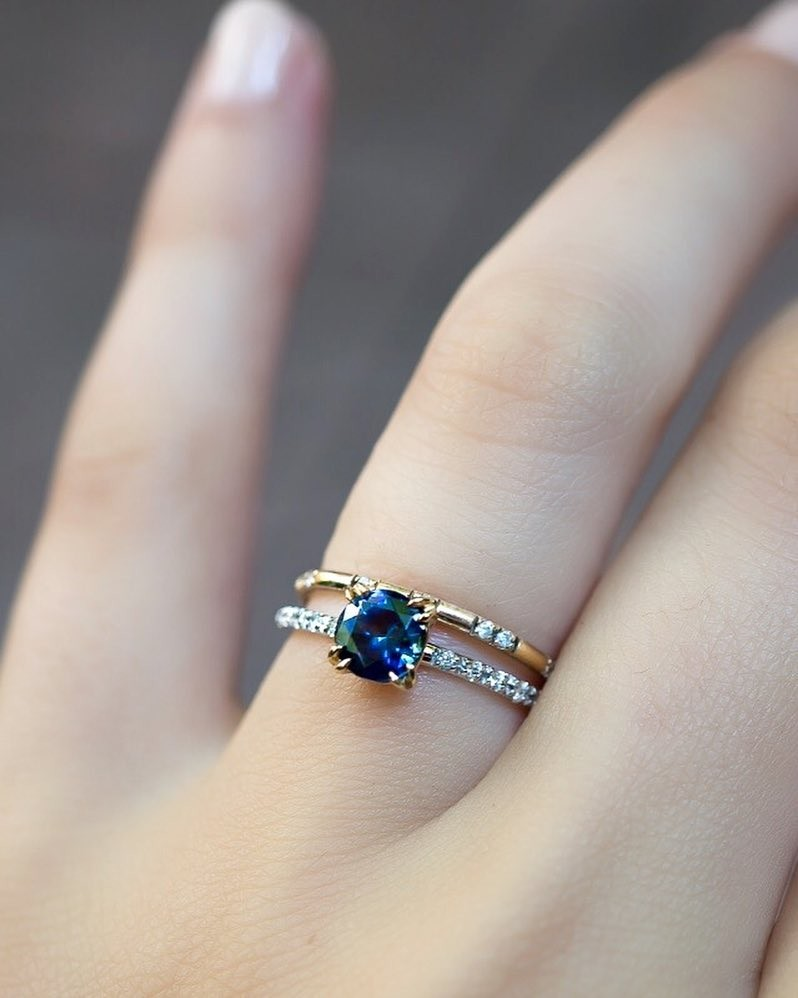 If you need some new sparkle we have a few ethically sourced Montana Sapphire rings (like this deep blue beauty) up on the website
