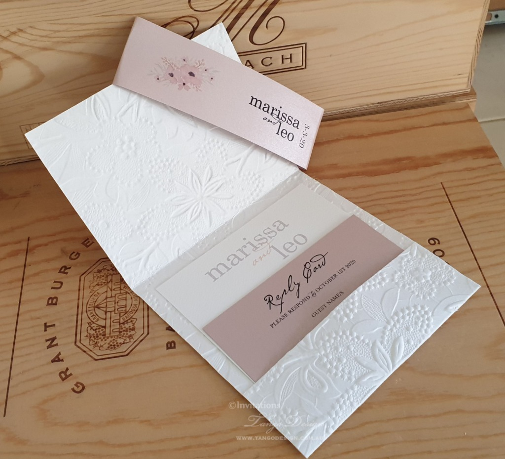 Handmade pocket invitation created with ANY of our 1000's papers. Everyone with a different look.