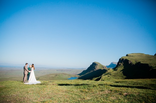 outdoor wedding ceremony in Scotland