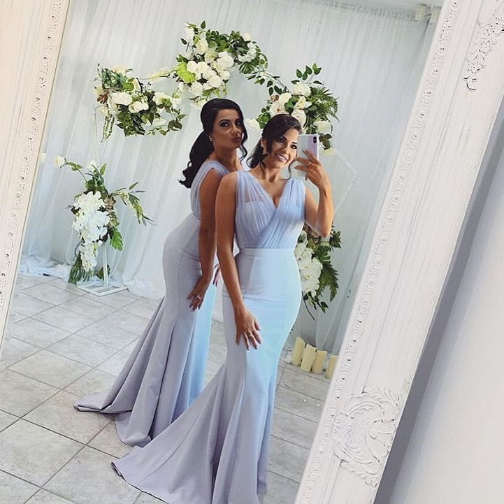Beautiful #bridesmaids in our Laneese Cross Over Tulle