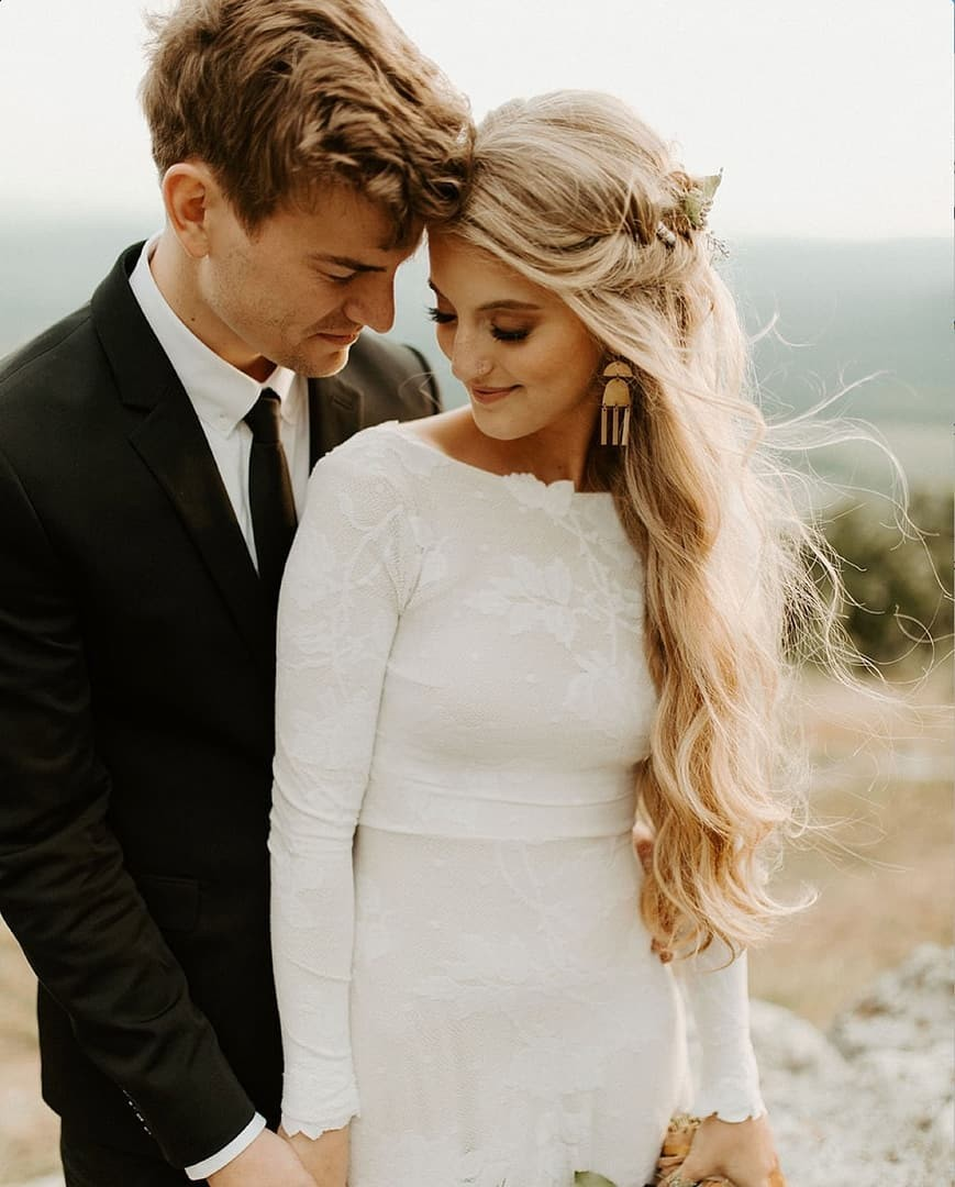 These two are an absolute DREAM. OMG. The totally stunning bride wears our Ellora dress. Photo by