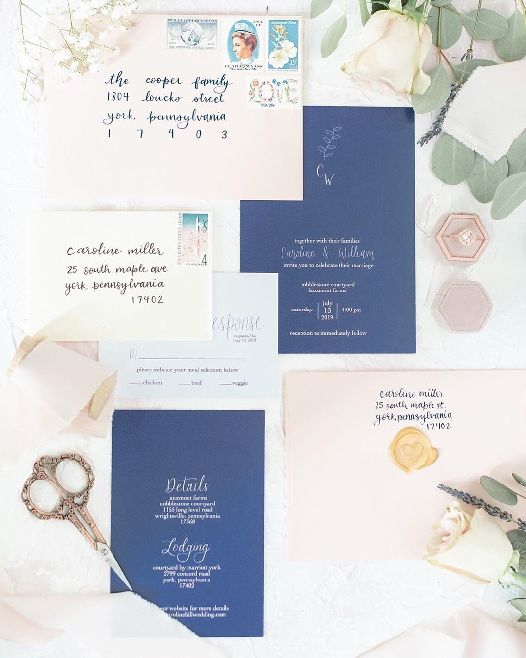 Could this stationery be any more gorgeous?!