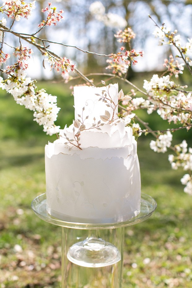 light and airy wedding cake