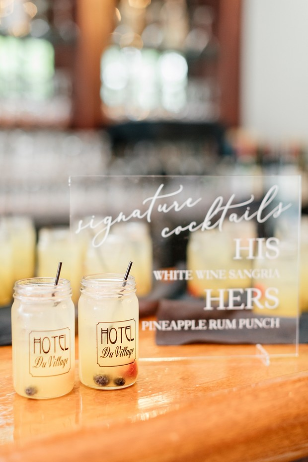 his and hers wedding cocktails