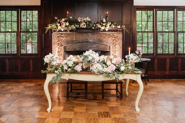 vintage sweetheart table design