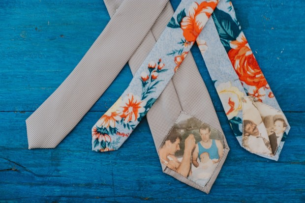 fun custom wedding ties