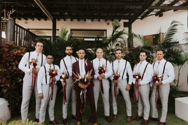groom and groomsmen in Mexico