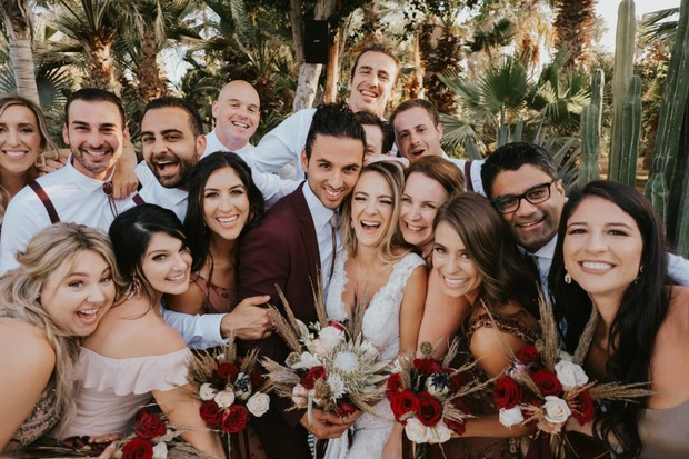 fun candid wedding party photo