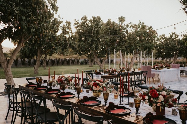 edgy boho wedding reception
