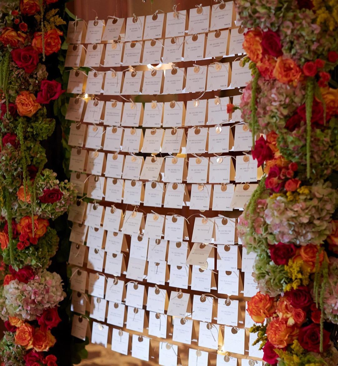 It is always such a pleasure + privilege to be a part of a creative team throughout a planning journey. This escort card display came