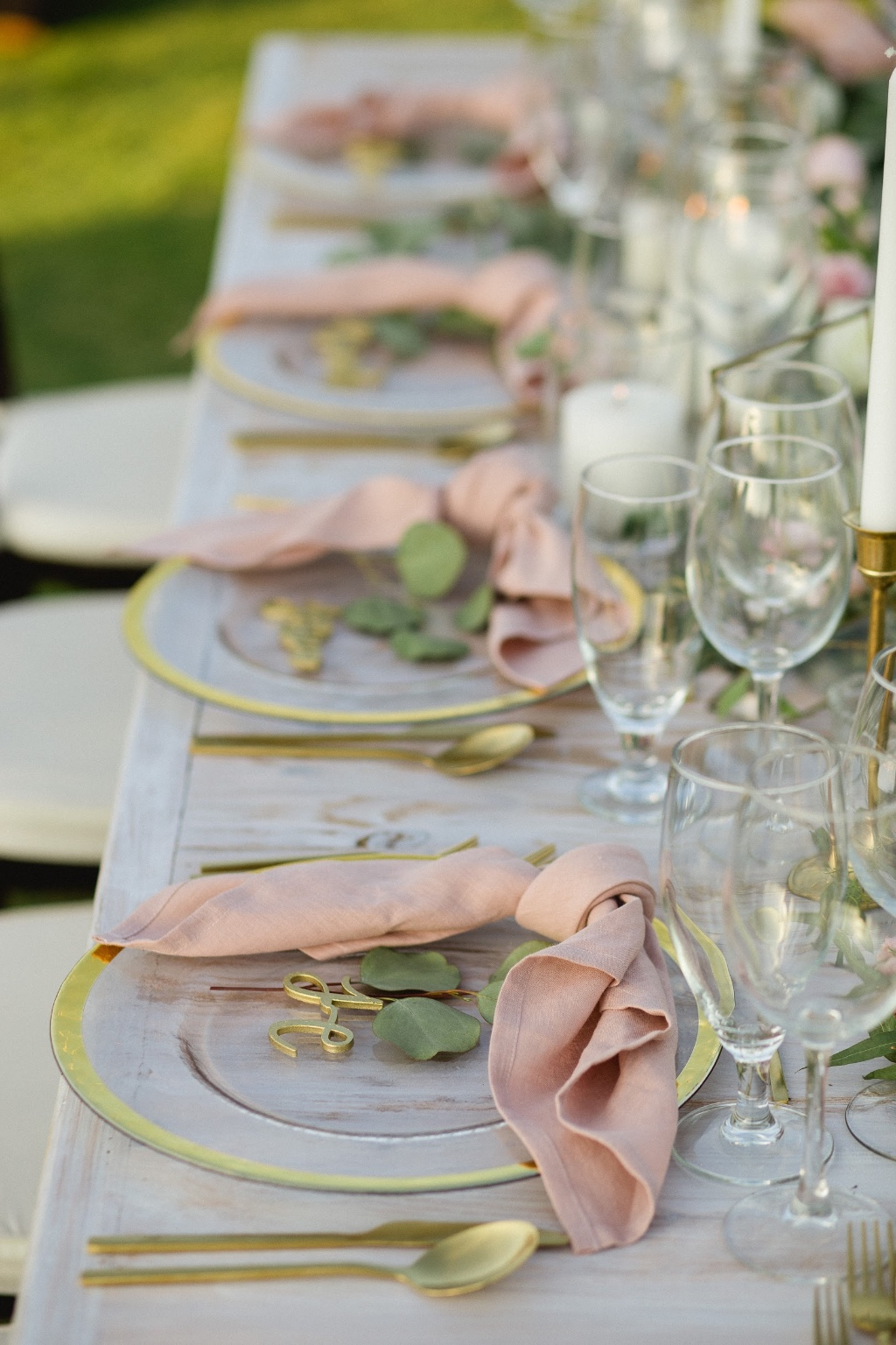 White washed and blush accents for a beautifully beach wedding in Cabo