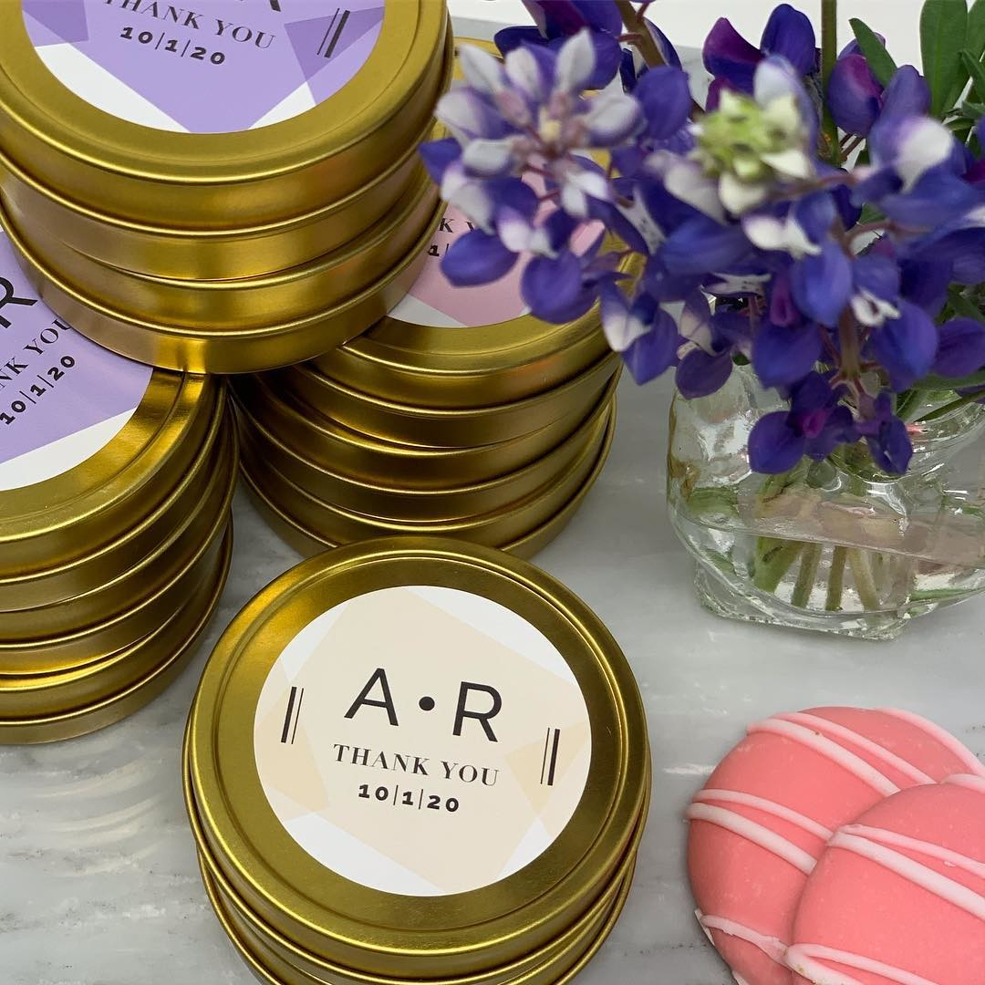 Personalized tins for the modern wedding. #gayweddingfavors
