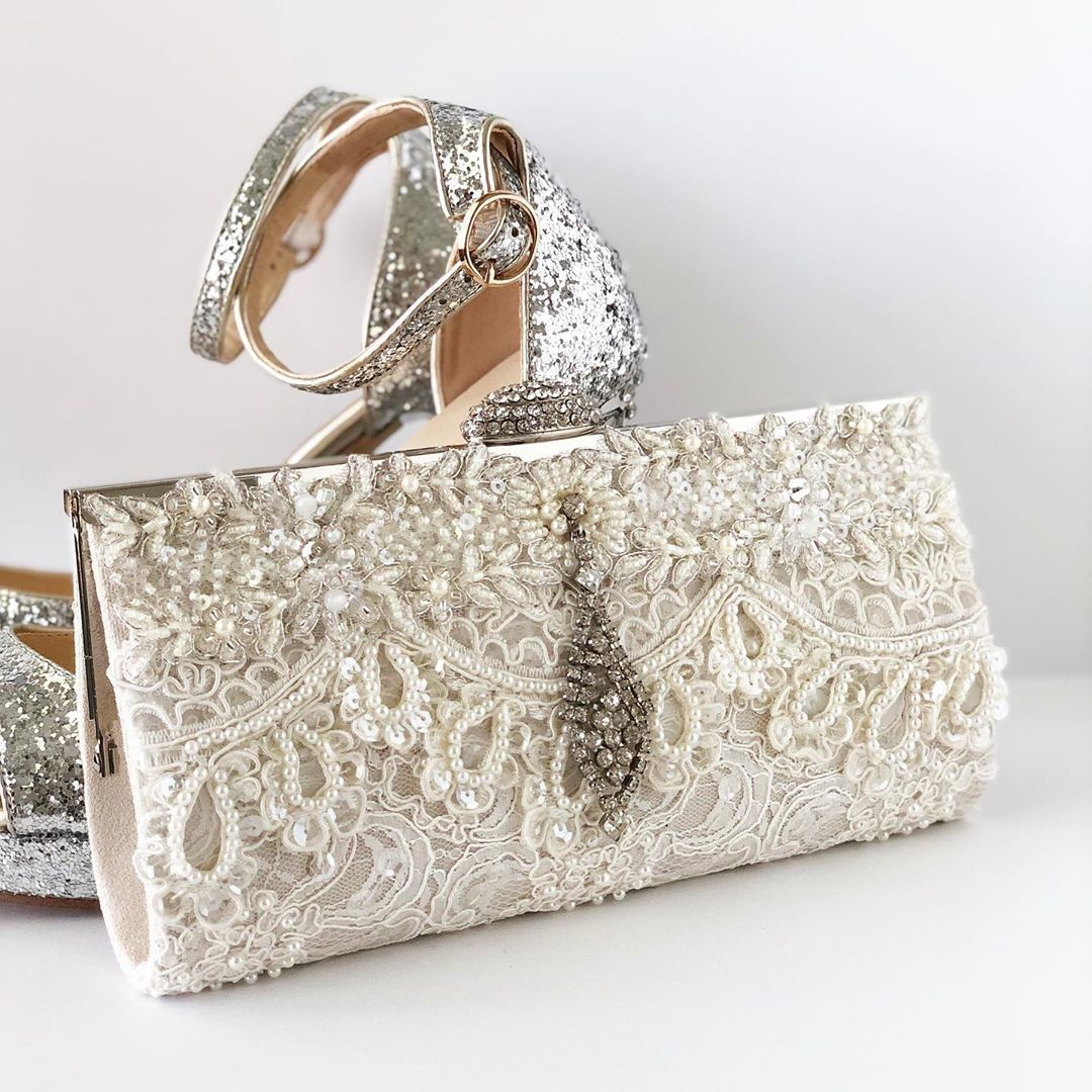 """Brand New!! Simple and elegant ivory beaded details. Shop our new 2020 """"Lux"""" designs."""