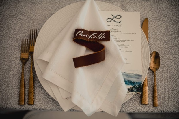 ranch chic wedding place setting