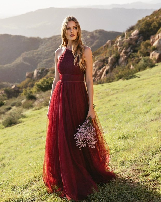 All the Wine Bridesmaids Dresses We've Be Thirsting After Lately