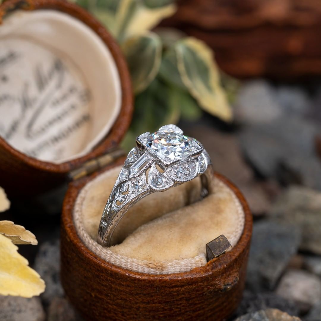 The beauty of an antique engagement ring