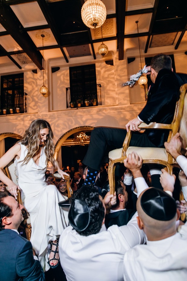 chair dance for bride and groom