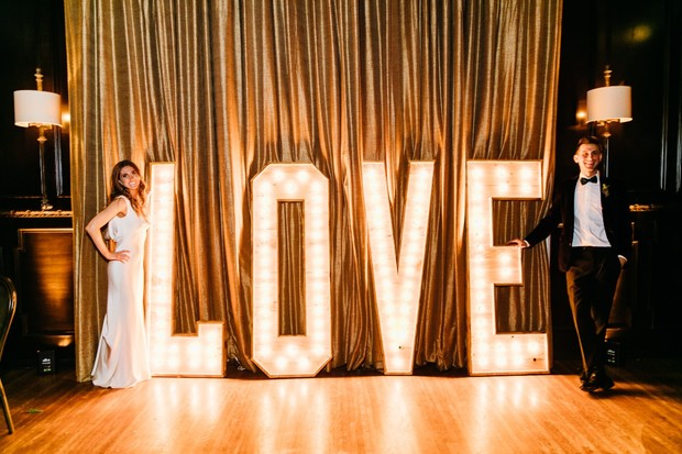 love wedding marquee
