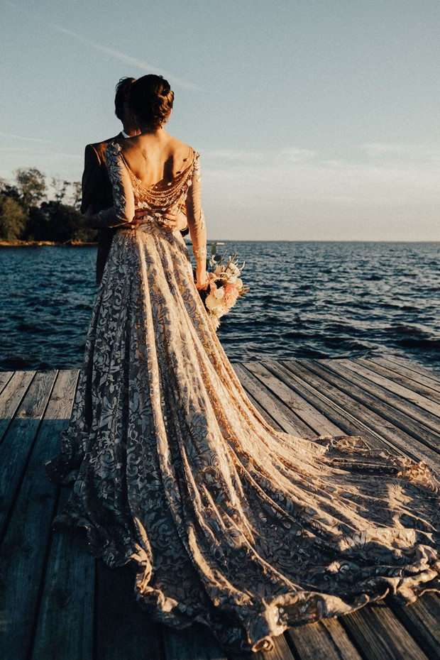 dreamy wedding dress back