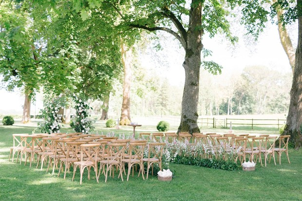 outdoor wedding ceremony in France