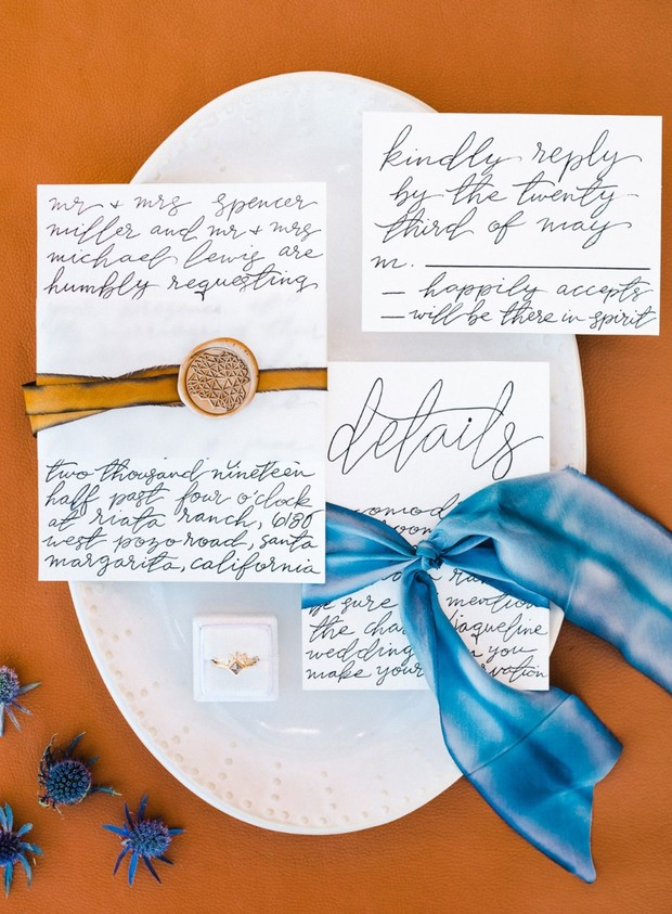 hand calligraphy wedding invitations