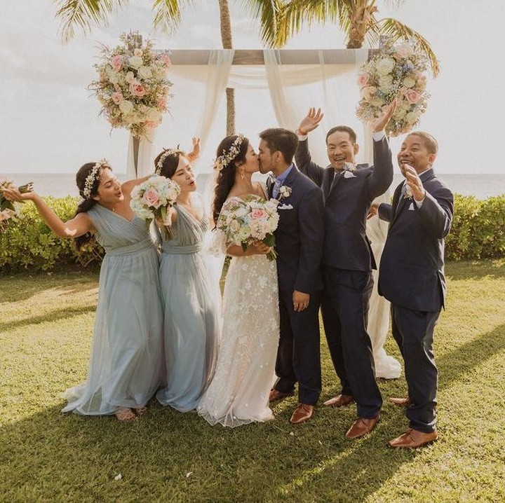 Complete excitement from the bridal party!⁠