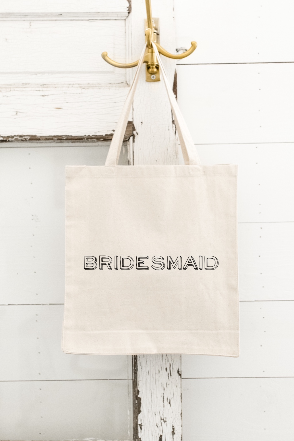 Our BRIDESMAID Tote Bags make the perfect GIFT for your Besties! Hold everything you need for a day at the beach or shopping trip