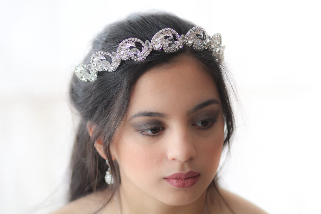 This lovely delicate Swarovski crystal Wedding tiara crown is created with layers of Swarovski crystals for an amazing finish ! Shine