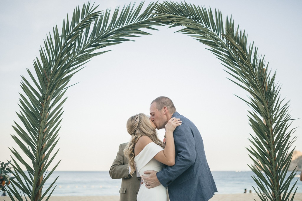 Boho Wedding by the arch in Cabo San Lucas