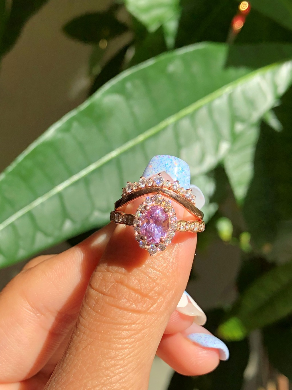 We love Lavender Purple Sapphire for its romanticly feminine and graceful look 💜✨ See more from our OOAK Rings Collection by La
