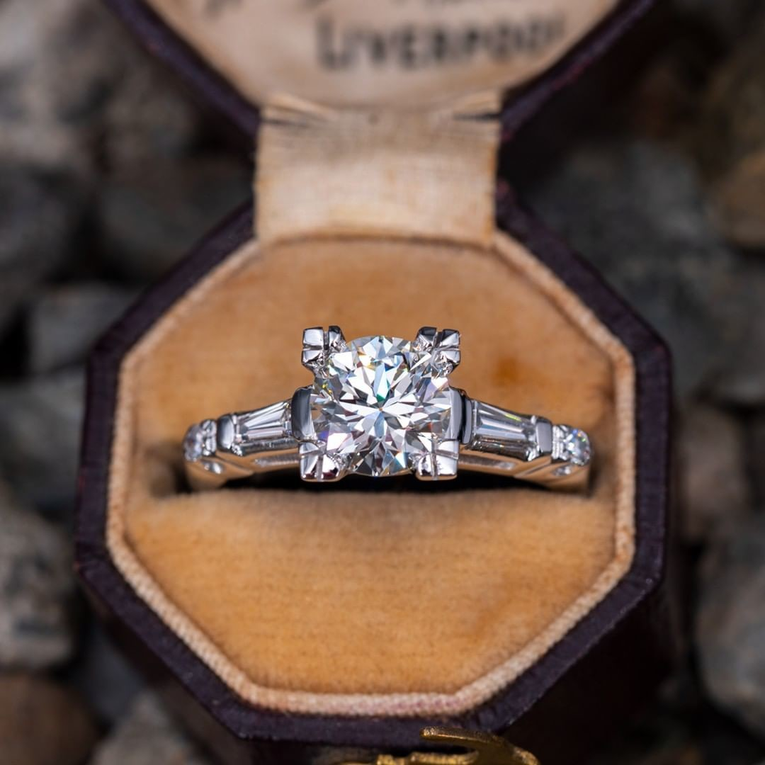 Vintage Engagement Ring w/ Fishtail Setting
