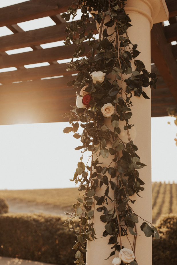 vineyard wedding florals