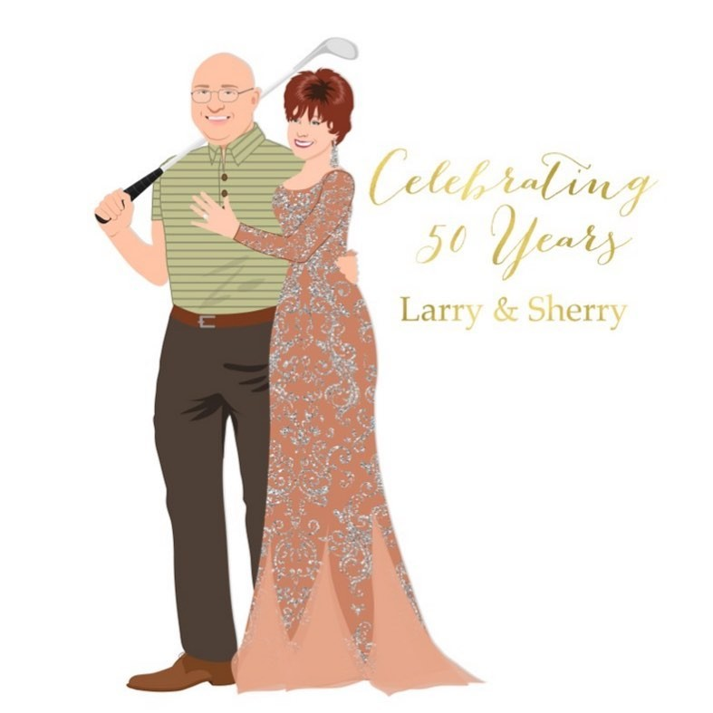 Larry and Sherry recently celebrated 50 GOLDEN years together, and we couldn't be happier for them! 💛 We love getting to celebrate
