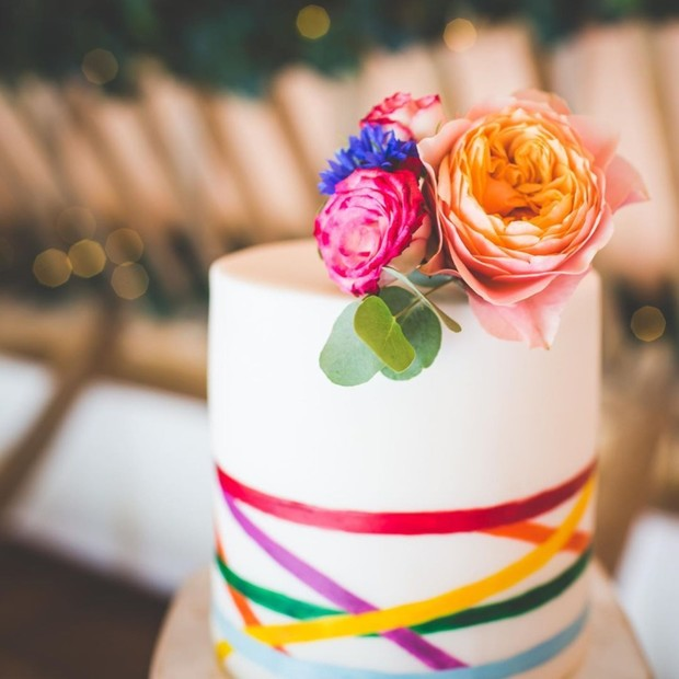 The Rock Had a Rainbow Wedding Cake and Now We Want One