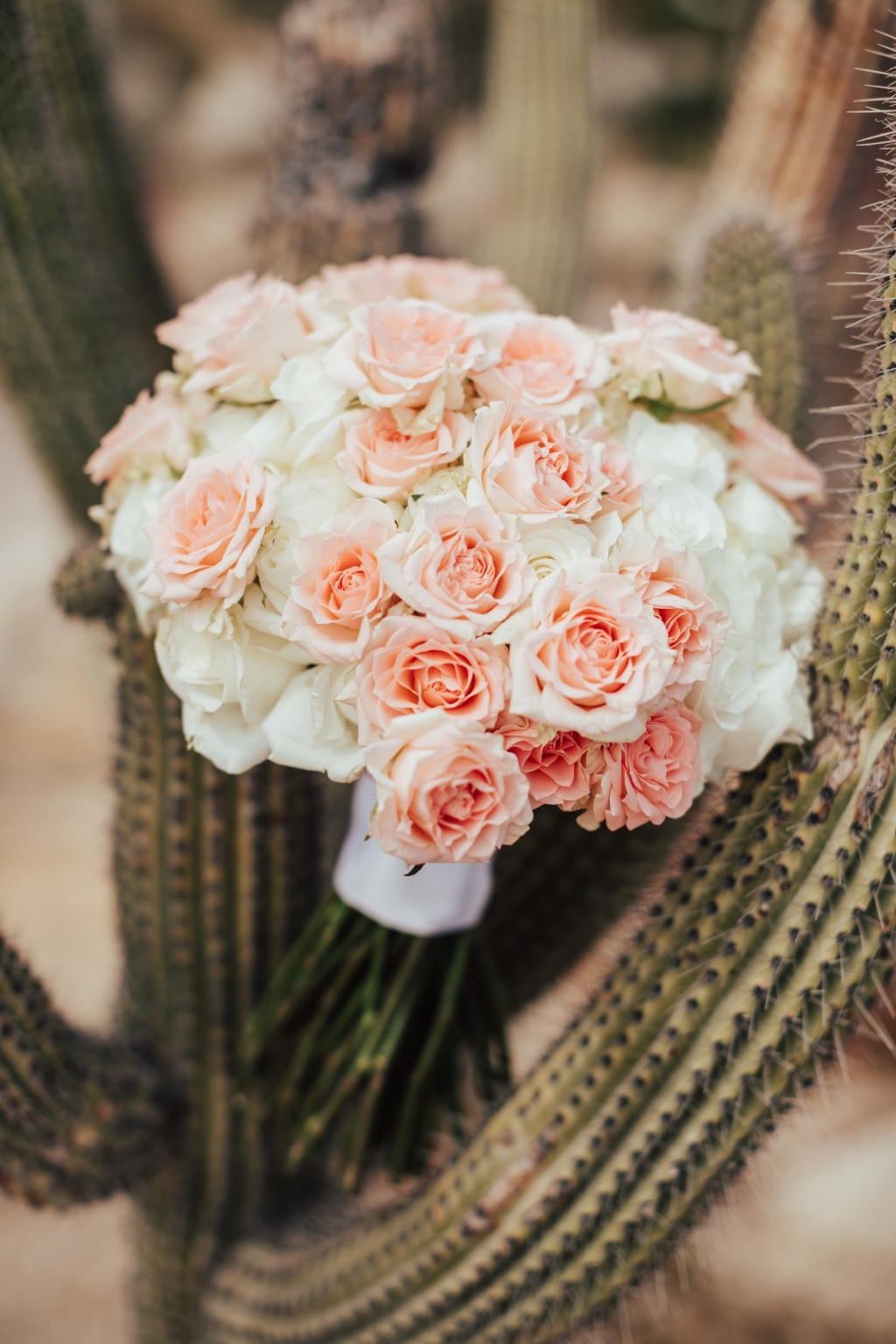 Romantic and elegant bouquet with a twist of Baja