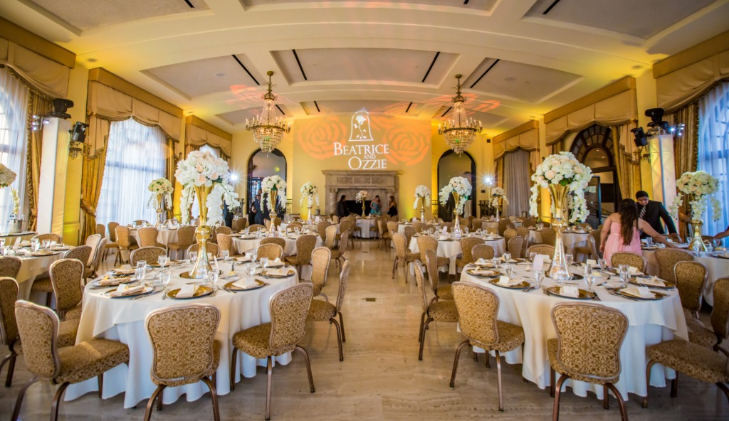 Beauty & The Beast themed wedding at the beautiful Riviera Country Club