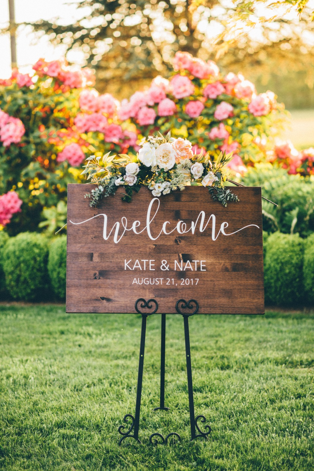 Shopping for the perfect wedding welcome sign? Shop from our collection of personalized welcome signs with your custom name and date