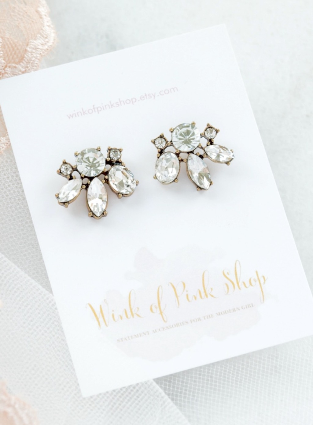 Your bridesmaids will sparkle in these Madison Bridesmaid Earrings. These earrings are great because they can be worn on formal and