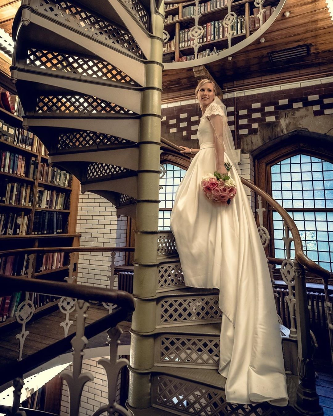 Love this spiral staircase at The Linderman Library at Lehigh University!