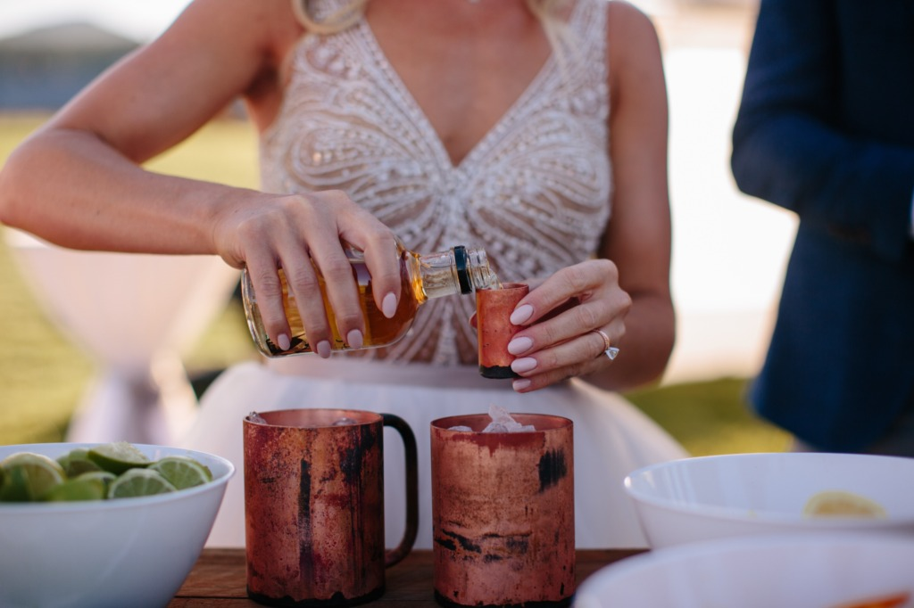 What wedding doesn't! like shots! Handlebend not only has mugs but awesome shot glasses