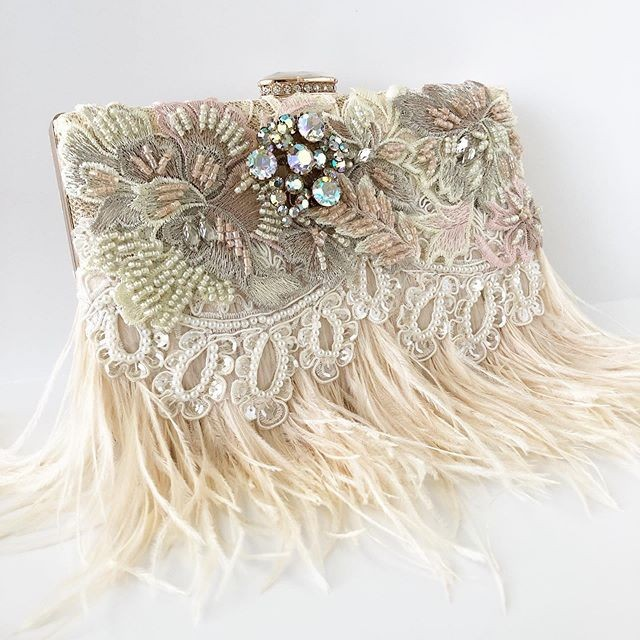 BLUSH and gorgeous embellished details make this New bridal clutch the ultimate show stopper!!! Shop the new clutches today!!!ð�