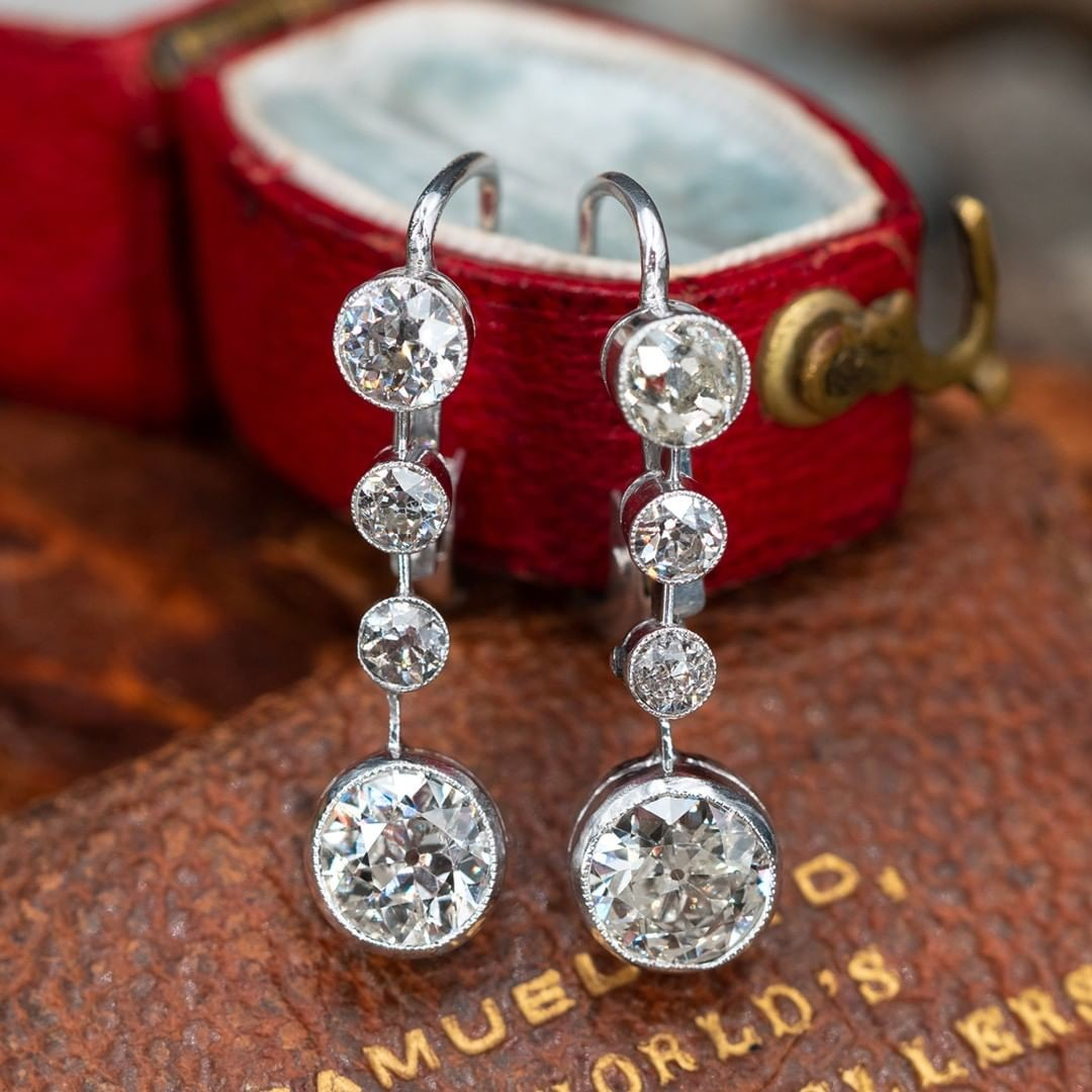 We are listing these stunning antique earrings right now. .