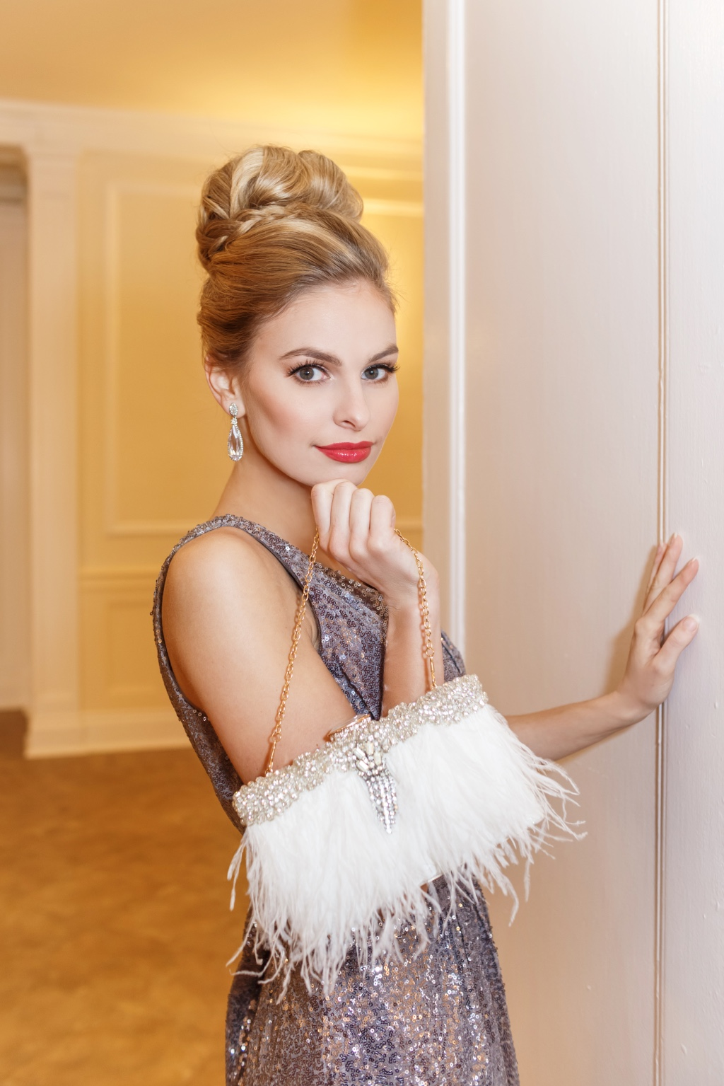 Walk into your wedding day with a gorgeous one of a kind bridal clutch