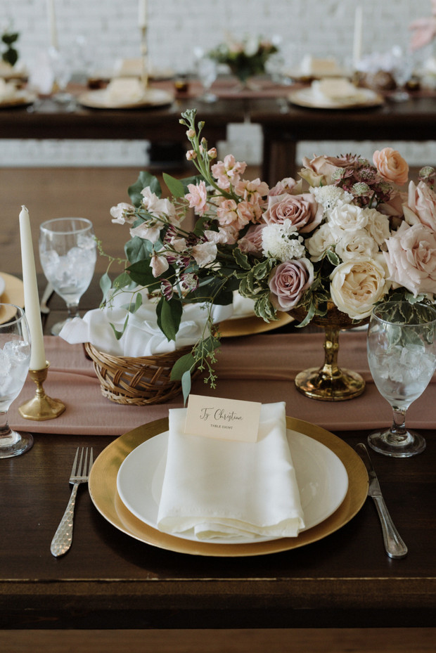 Peachy Mauve Wedding With DIY Blooms Fifty Flowers